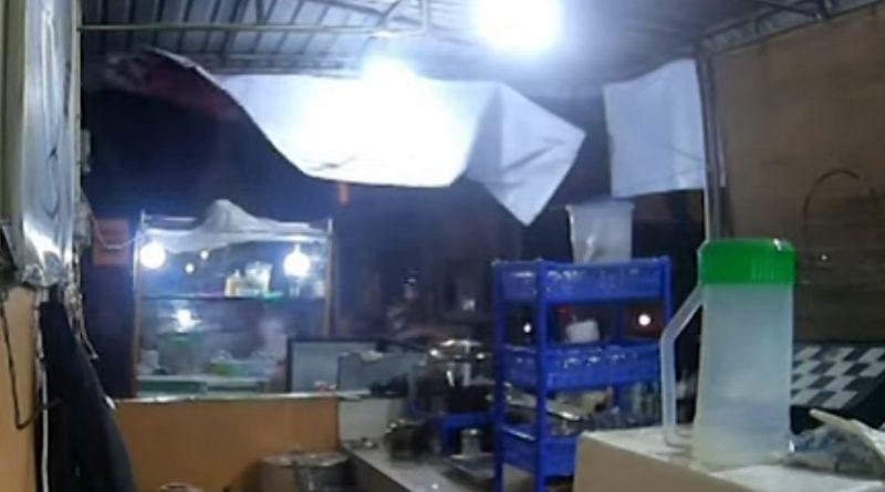 CCTV geng motor serang warkop di medan