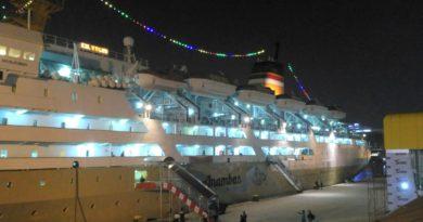medanoke.com - KM Kelud Pengangkut Crew Terpapar Covid 19 Berlabuh di Belawan