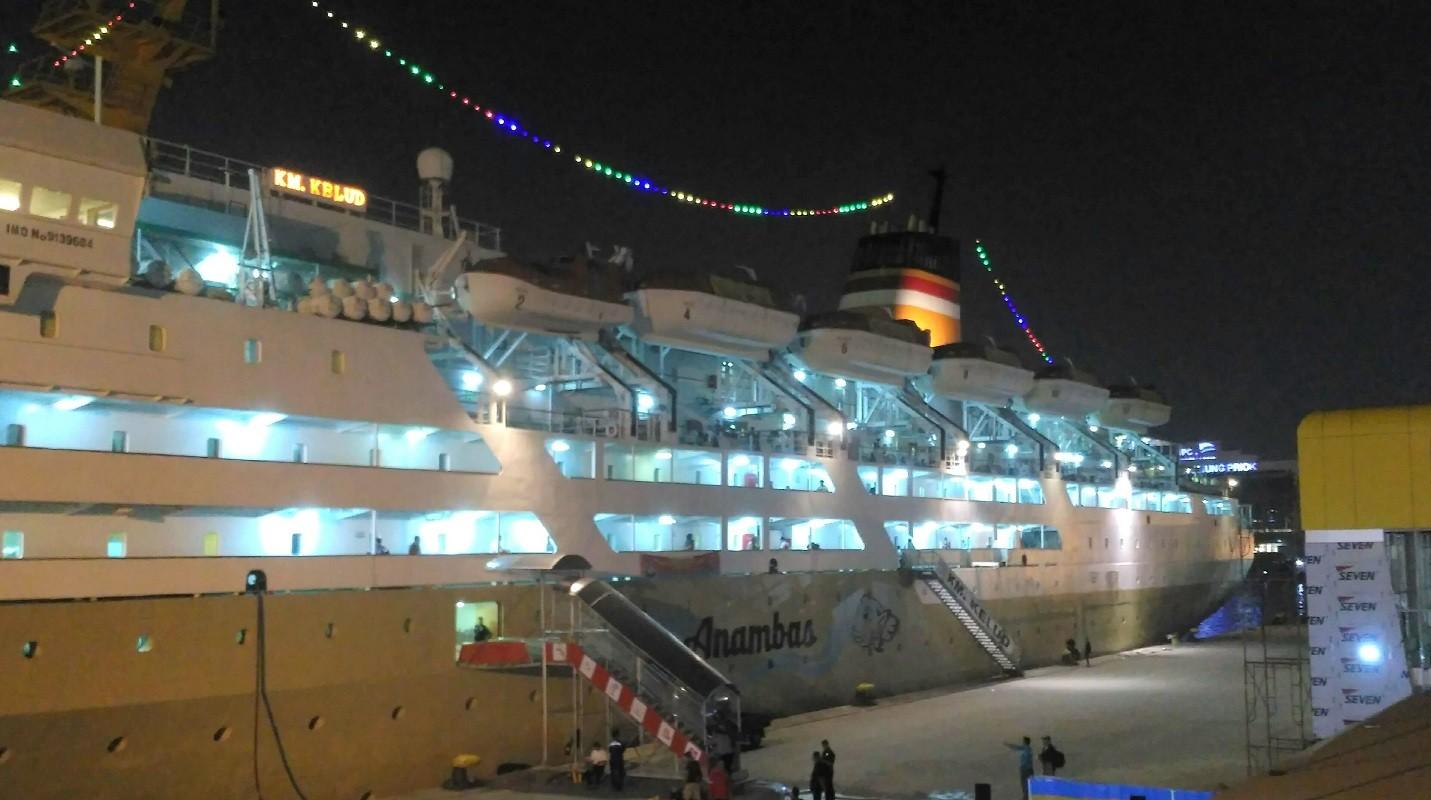 KM Kelud Pengangkut Crew Terpapar Covid 19 Berlabuh di Belawan