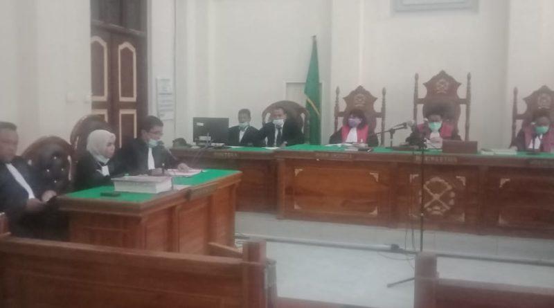 Medanopke.com- Sidang Perdana Hakim Jamalludin di Pengadilan Negeri Medan