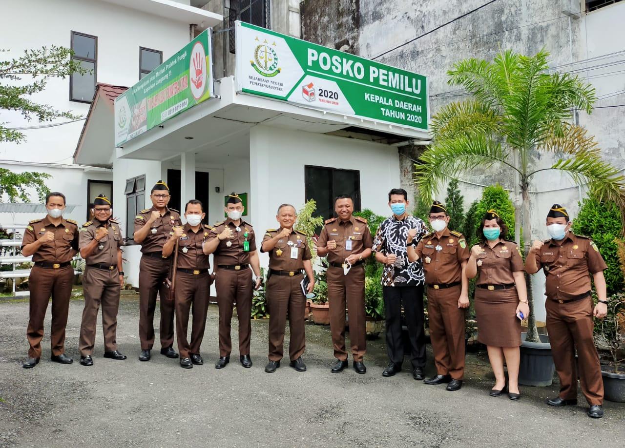 Medanoke.com - Wakajati Sumut Sidak Posko Pemantauan Pilkada Siantar