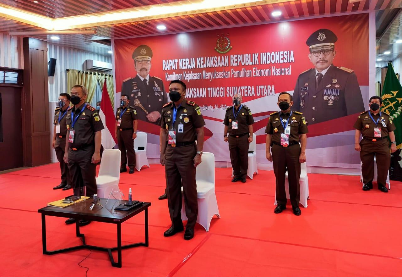 Medanoke.com - Presiden Jokowi Buka Secara Resmi Rakernas Kejaksaan RI