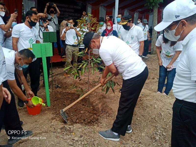 Sambut HBA Yang Ke-61 Tahun 2021, Kejati Sumut Tanam 1000 Pohon